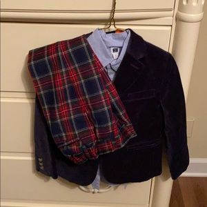 Janie and Jack 3 piece boys holiday outfit